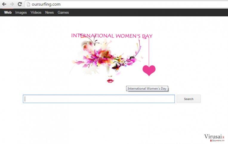 Oursurfing.com ekrano nuotrauka