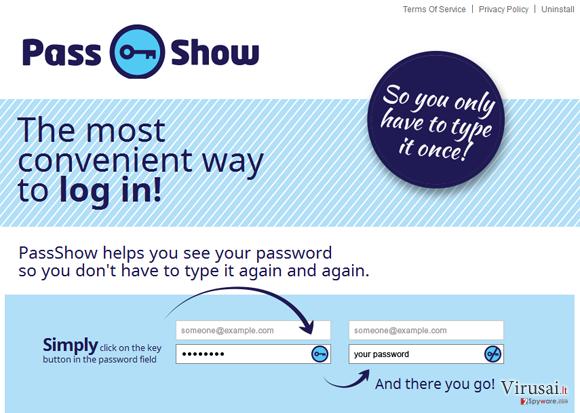 PassShow reklamos ekrano nuotrauka