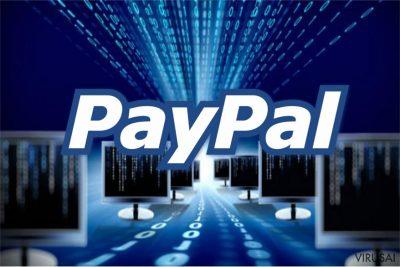 PayPal apgaulinga žinutė