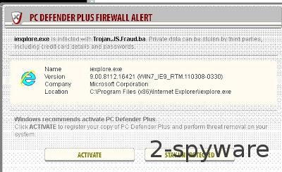 PC Defender Plus Firewall Alert ekrano nuotrauka