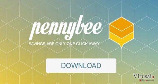 PennyBee reklamos ekrano nuotrauka
