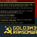 Petya virusas ekrano nuotrauka