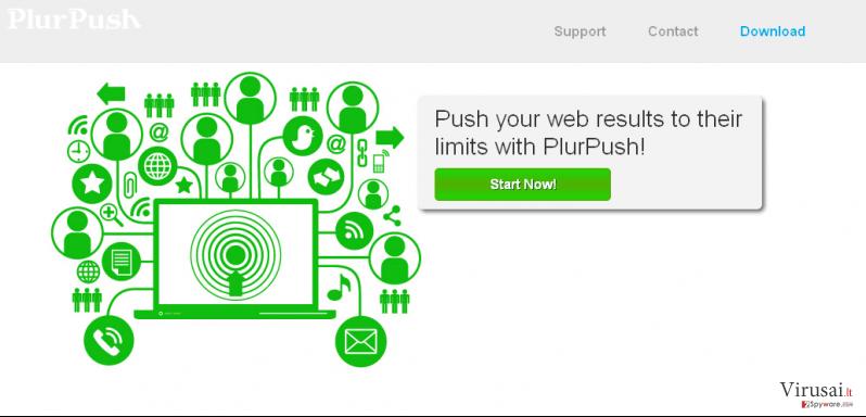 PlurPush ekrano nuotrauka