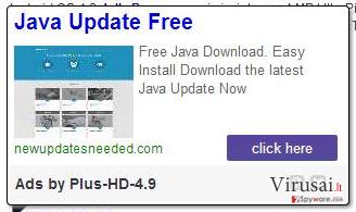 Plus-HD virusas ekrano nuotrauka