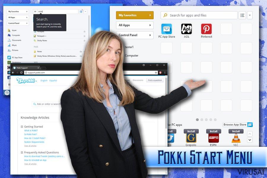 Pokki Start Menu adware tipo programa