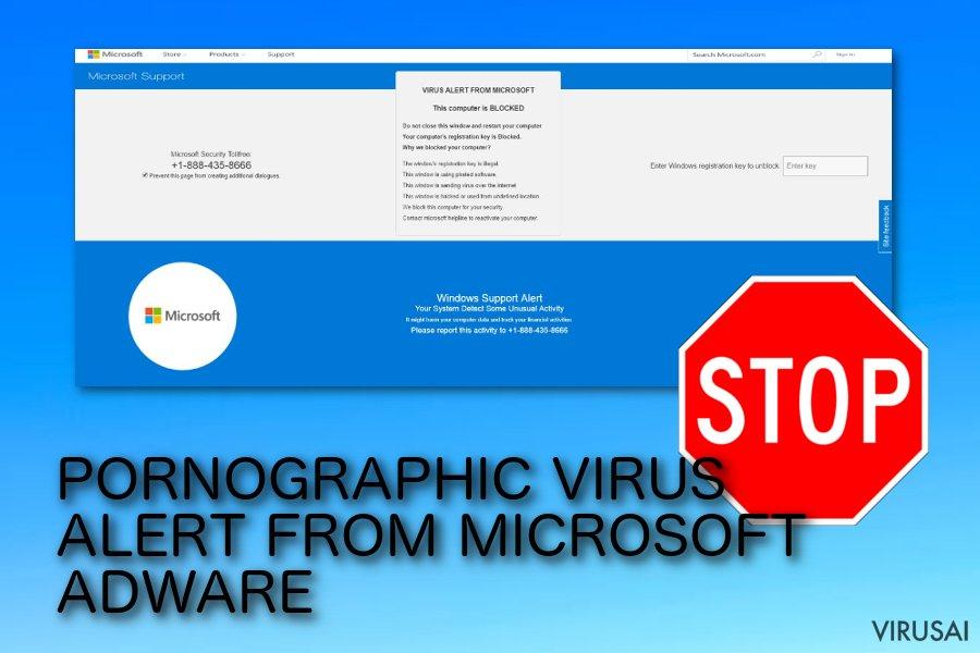 PORNOGRAPHIC VIRUS ALERT FROM MICROSOFT apgaulinga reklama
