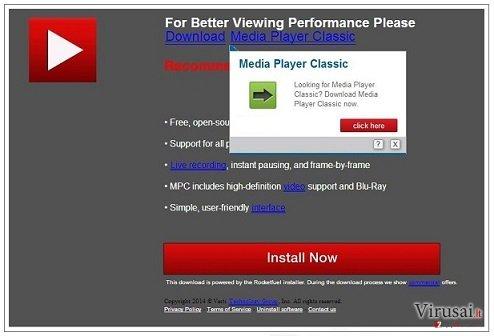 PremiumPlayerUpdates.com virusas ekrano nuotrauka