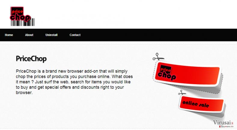 PriceChop ekrano nuotrauka