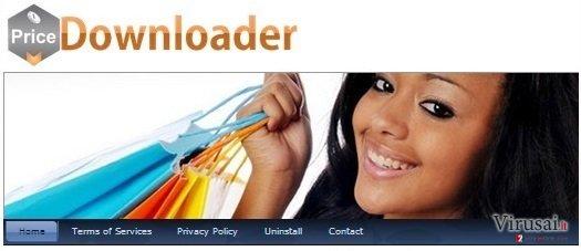 PriceDownloader virusas ekrano nuotrauka