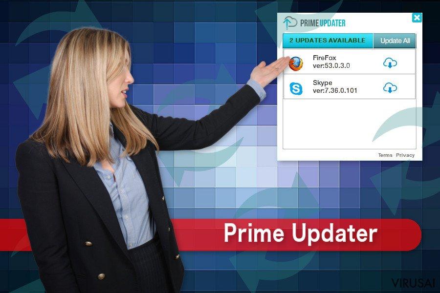 Prime Updater virusas
