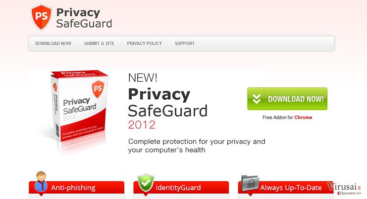 Privacy SafeGuard ekrano nuotrauka