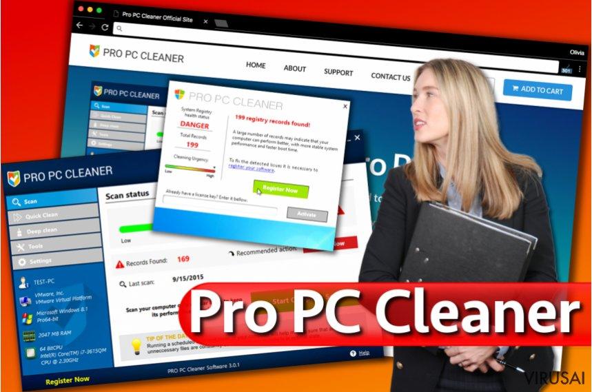 Pro PC Cleaner ekrano nuotrauka