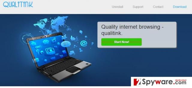 Qualitink reklamos ekrano nuotrauka