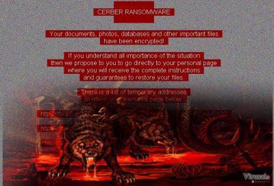 Red Cerber ransomware virus