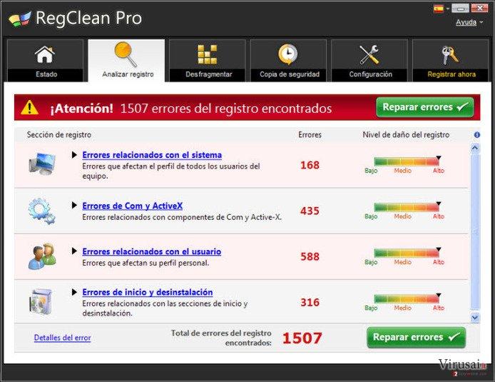 RegClean Pro ekrano nuotrauka