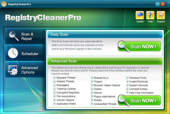 Registry Cleaner Pro ekrano nuotrauka