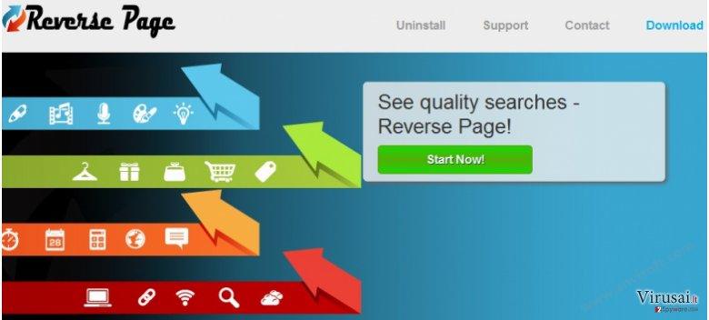 Reverse Page reklamos ekrano nuotrauka