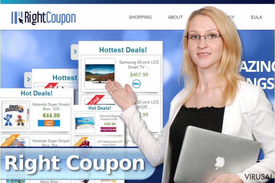 Right Coupon reklamos ekrano nuotrauka