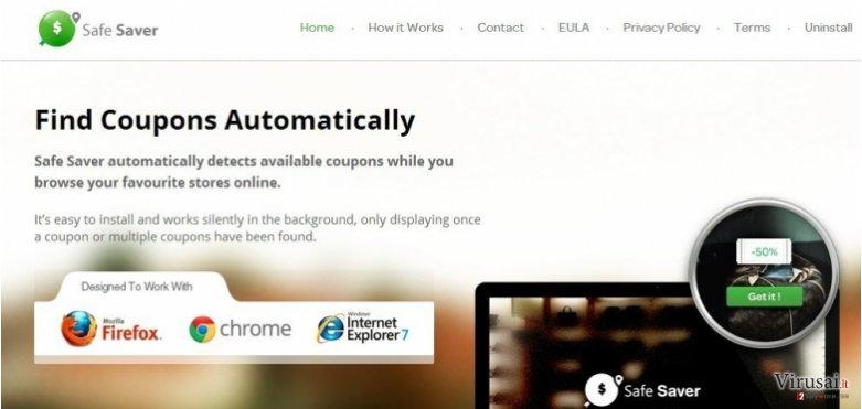 Safe Saver virusas ekrano nuotrauka