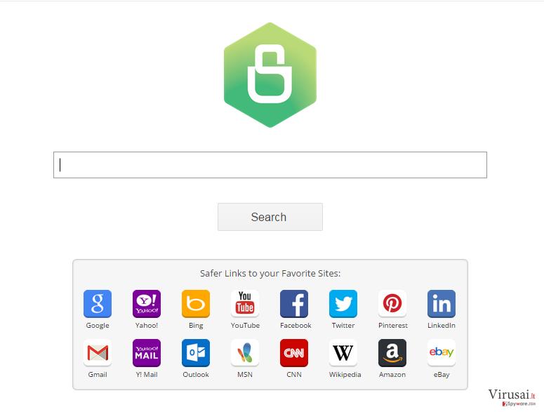 Safer Browser virusas ekrano nuotrauka
