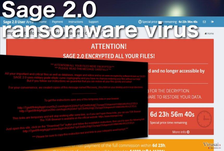 Sage 2.0 viruso nuotrauka