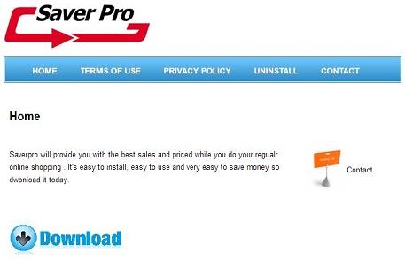 SaverPro virusas ekrano nuotrauka