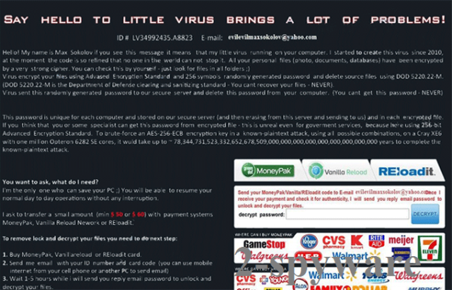 Say Hello To Little Virus Brings A Lot Of Problems virus ekrano nuotrauka