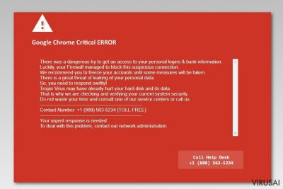 Google Chrome Critical Error