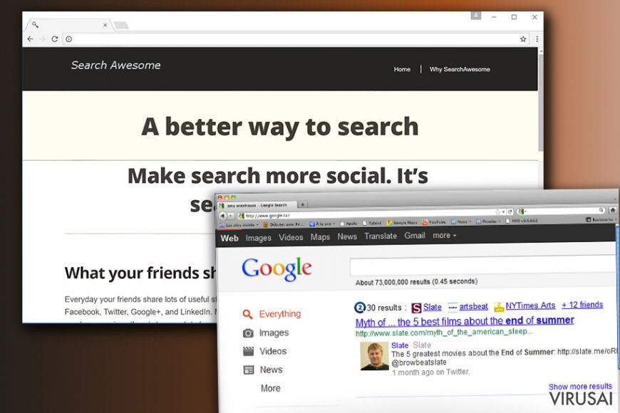 Search Awesome nepageidaujama programa