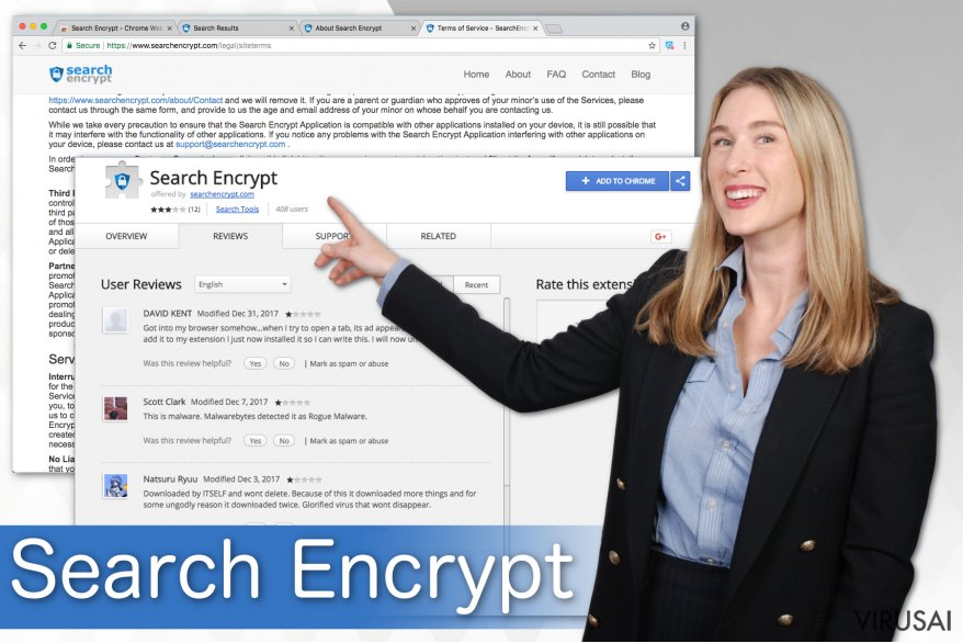 Search Encrypt iliustracija