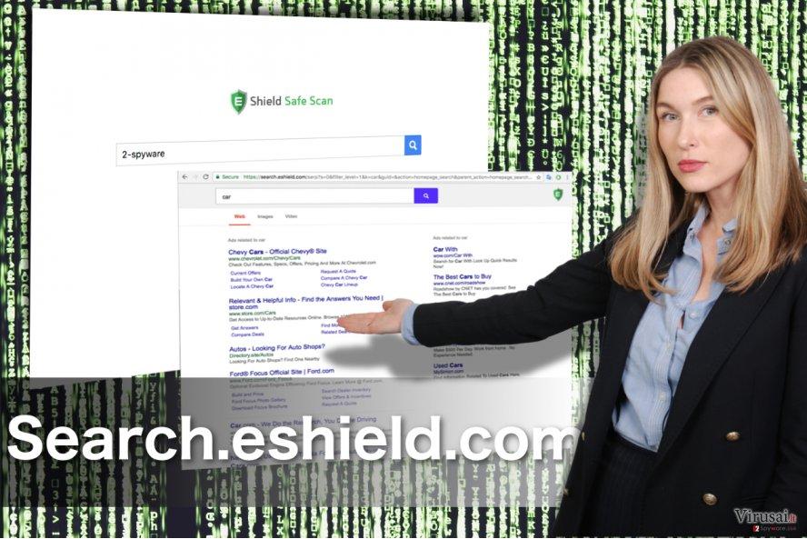 Search.eshield.com peradresavimai ekrano nuotrauka