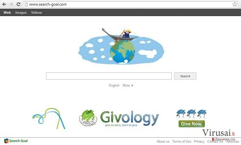 Search-goal.com ekrano nuotrauka