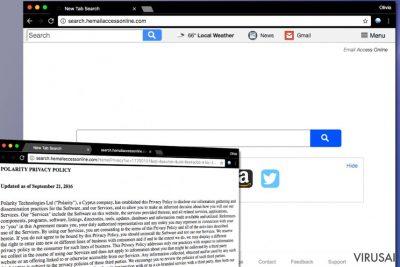 Search.hemailaccessonline.com virusas
