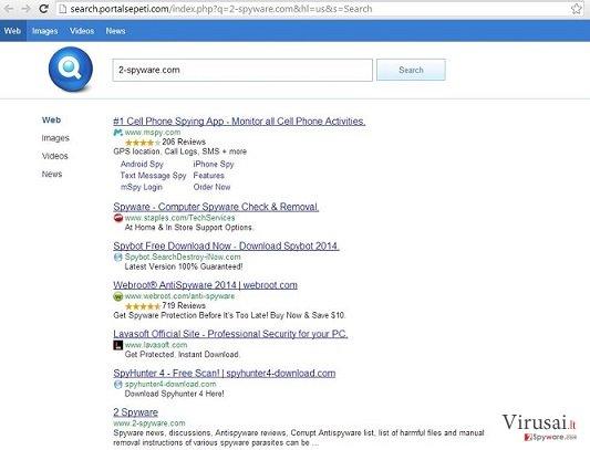 Search.Portalsepeti.com ekrano nuotrauka