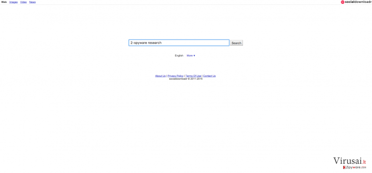 Search.socialdownloadr.com virusas ekrano nuotrauka