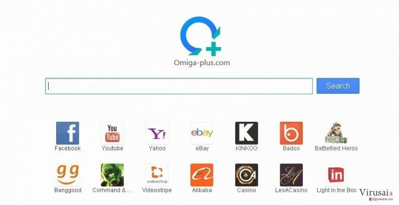 Searches.omiga-plus.com virusas ekrano nuotrauka