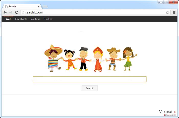 Searchiu.com virusas ekrano nuotrauka