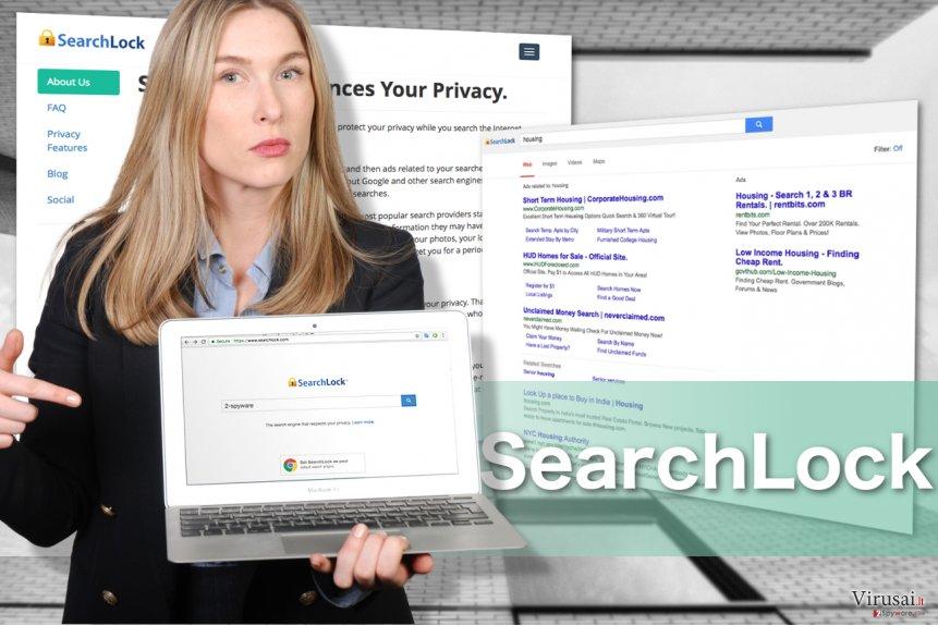 SearchLock ekrano nuotrauka