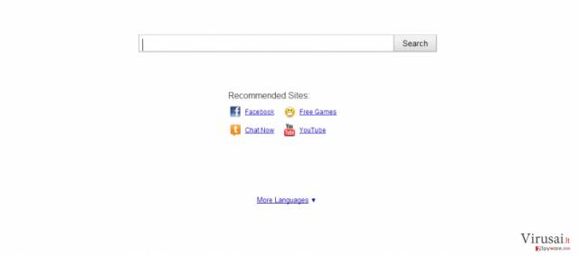 Searchnu ekrano nuotrauka