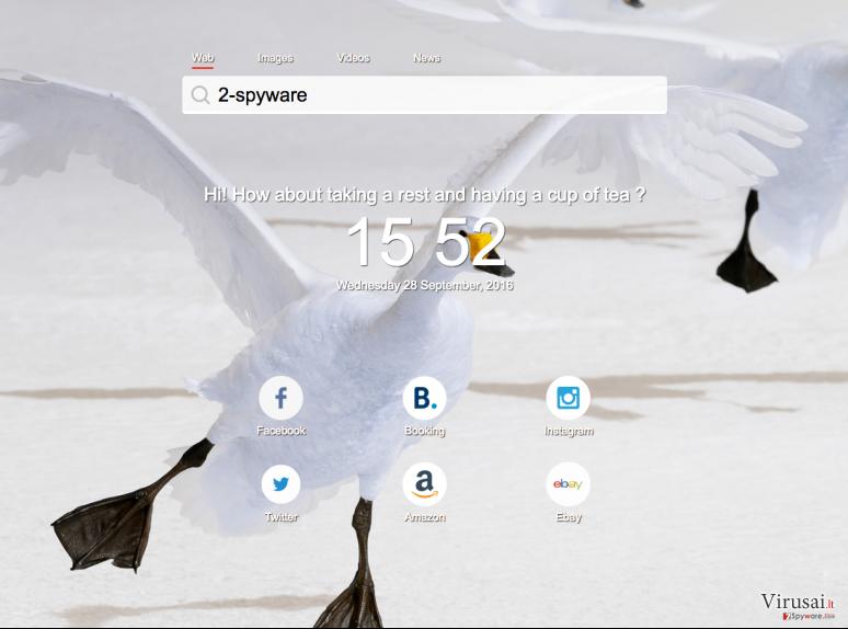 Ourstartpage.com virusas ekrano nuotrauka