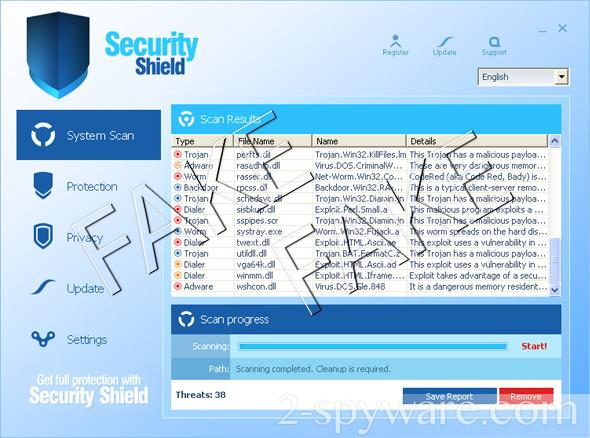Security Shield ekrano nuotrauka
