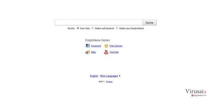 Searchqu ekrano nuotrauka