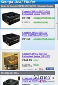 Setaga Deal Finder ekrano nuotrauka