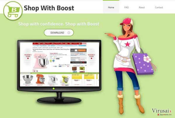 Shop with Boost virusas ekrano nuotrauka