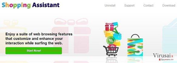 Shopping Assistant reklamos ekrano nuotrauka