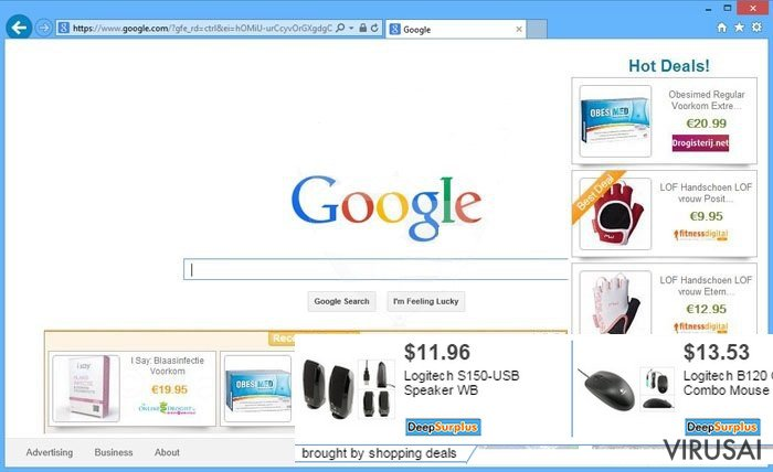 Shopping Deals reklamos ekrano nuotrauka
