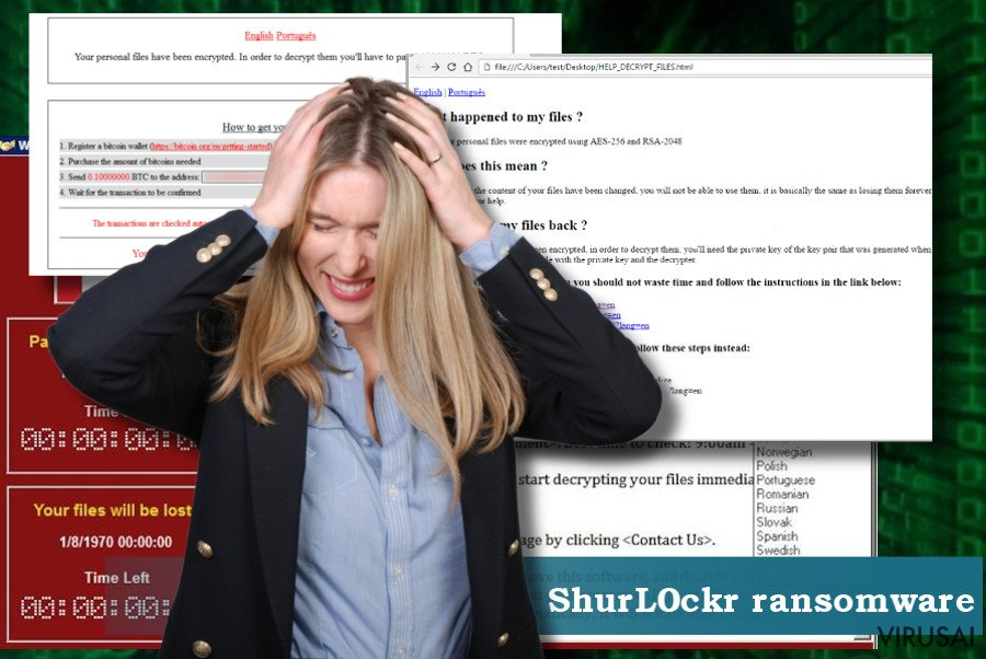 ShurL0ckr viruso pašalinimo instrukcijos