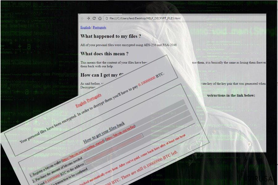ShurL0ckr viruso iliustracija