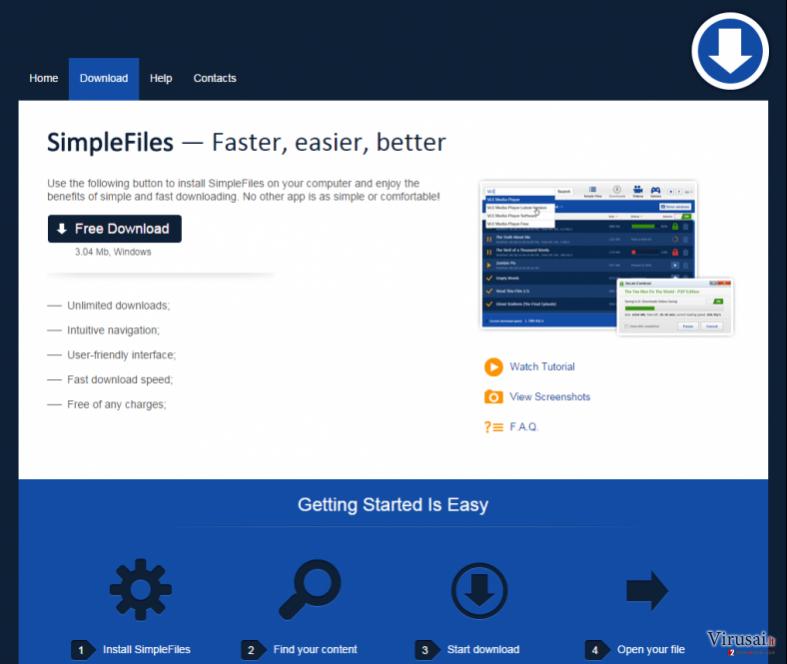 SimpleFiles ekrano nuotrauka