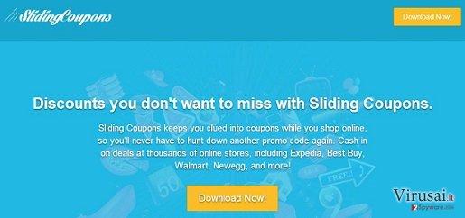 Sliding Coupons reklamos ekrano nuotrauka